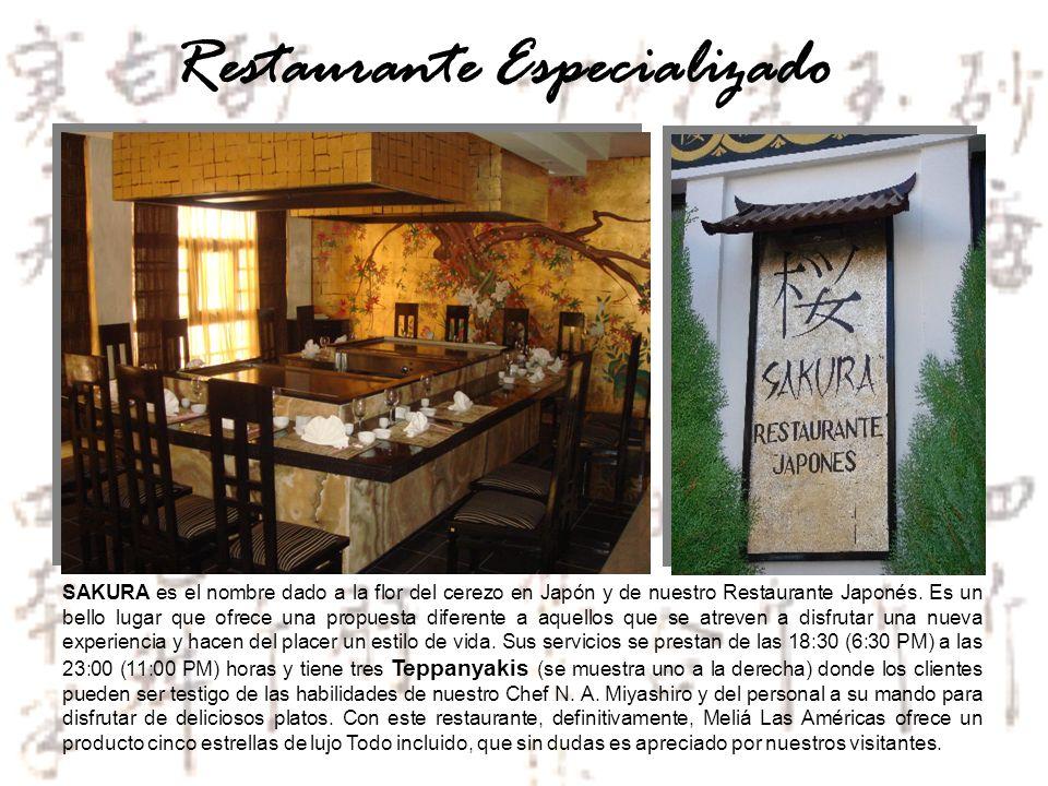 Restaurante Especializado SAKURA es el nombre dado a la flor del cerezo en Japón y de nuestro Restaurante Japonés. Es un bello lugar que ofrece una pr