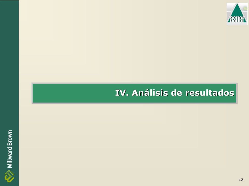 12 IV. Análisis de resultados