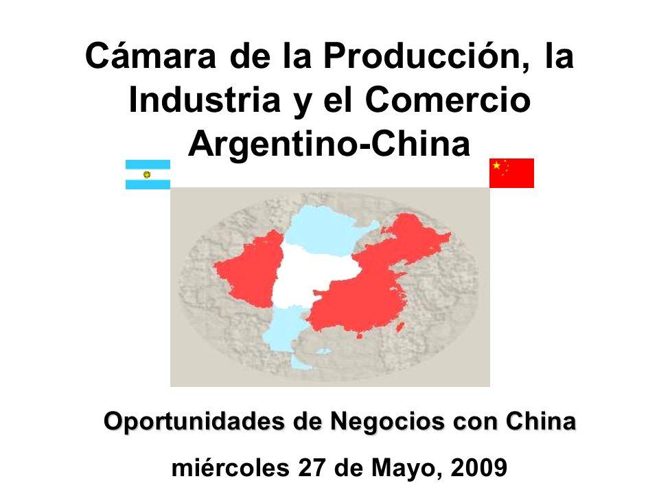CHINA IMPORTA Pescados y Mariscos U$S 3.006.000.000 Carnes U$S 693.000.000 Pescados y Mariscos elaborados U$S 112.000.000 Productos Lácteos U$S 559.000.000 Frutas Secas o Procesadas U$S 107.000.000 ARGENTINA LE VENDE U$S 10.833.000 U$S 13.000.000 U$S 1.564.000 U$S 3.244.000 U$S 3.345.000