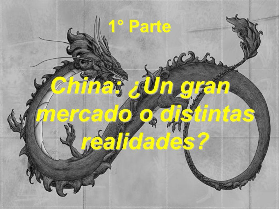 1° Parte China: ¿Un gran mercado o distintas realidades?