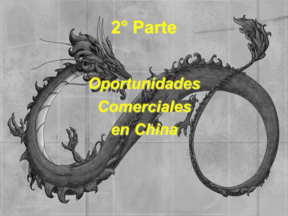 CHINA: LA GRAN ASPIRADORA PRODUCTO% CONSUMIDO DE LA PRODUCCIÓN MUNDIAL CEMENTO47% ALGODÓN37% ARROZ32% CARBÓN32% ACERO CRUDO26% ALUMINIO26% COBRA21% TRIGO20% ACEITES 8%