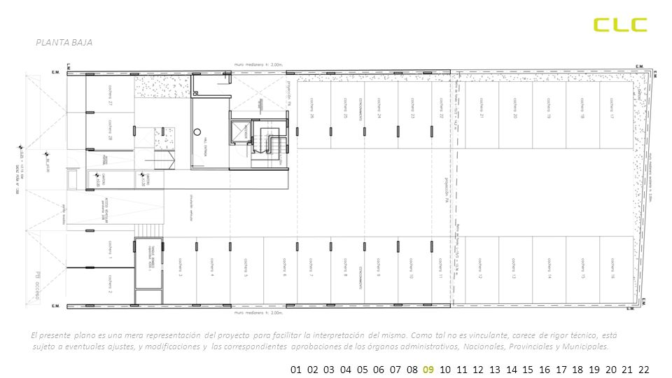 PLANTA BAJA El presente plano es una mera representación del proyecto para facilitar la interpretación del mismo.