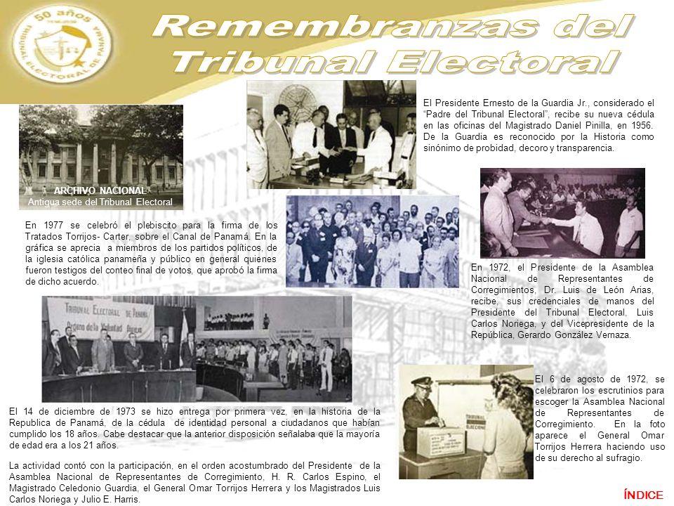 En 1977 se celebró el plebiscito para la firma de los Tratados Torrijos- Carter, sobre el Canal de Panamá. En la gráfica se aprecia a miembros de los