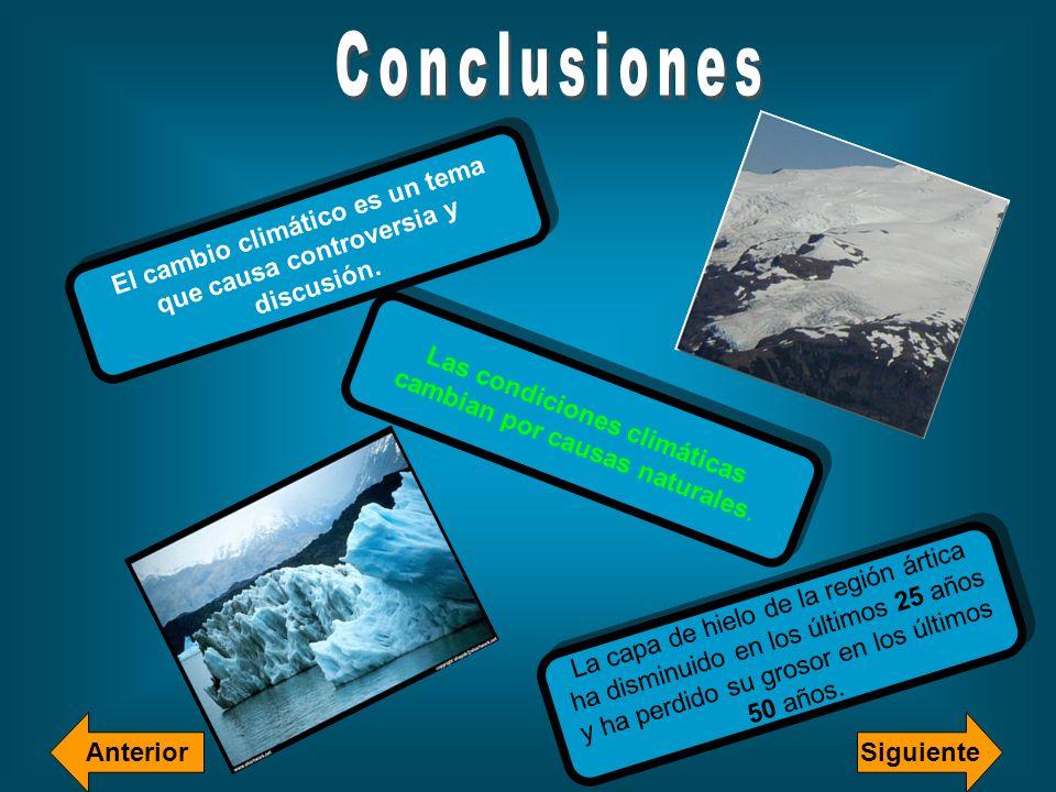El cambio climático es un tema que causa controversia y discusión. Las condiciones climáticas cambian por causas naturales. La capa de hielo de la reg