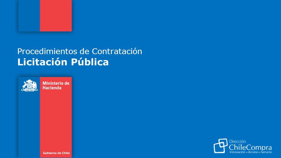 Procedimientos de Contratación Licitación Pública