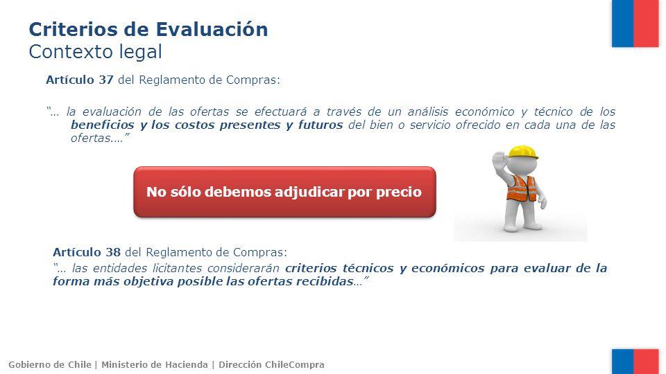 Gobierno de Chile | Ministerio de Hacienda | Dirección ChileCompra Artículo 37 del Reglamento de Compras: … la evaluación de las ofertas se efectuará
