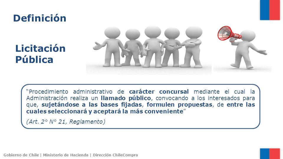 Gobierno de Chile | Ministerio de Hacienda | Dirección ChileCompra Los contratos administrativos se celebrarán previa propuesta pública, en conformidad a la ley.
