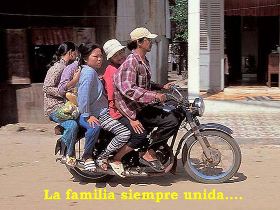La familia siempre unida….