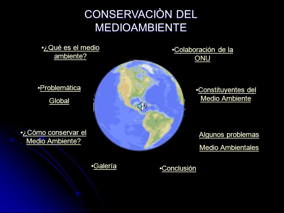 ¿Qué es el medio ambiente?¿Qué es el medio ambiente? Problemática Global ¿Cómo conservar el Medio Ambiente?¿Cómo conservar el Medio Ambiente? Colabora
