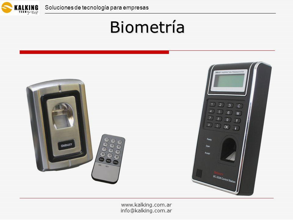 www.kalking.com.ar info@kalking.com.ar Biometría Soluciones de tecnología para empresas