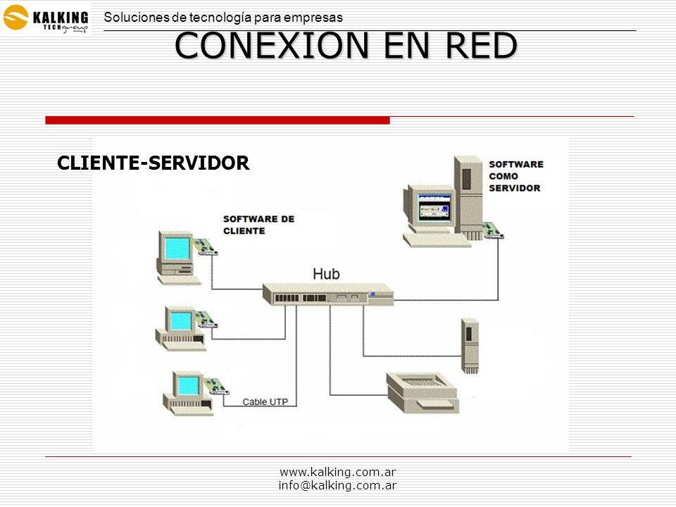 www.kalking.com.ar info@kalking.com.ar CONEXION EN RED CLIENTE-SERVIDOR Soluciones de tecnología para empresas