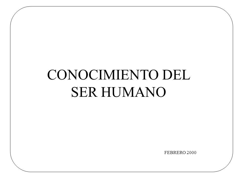 CONOCIMIENTO DEL SER HUMANO FEBRERO 2000