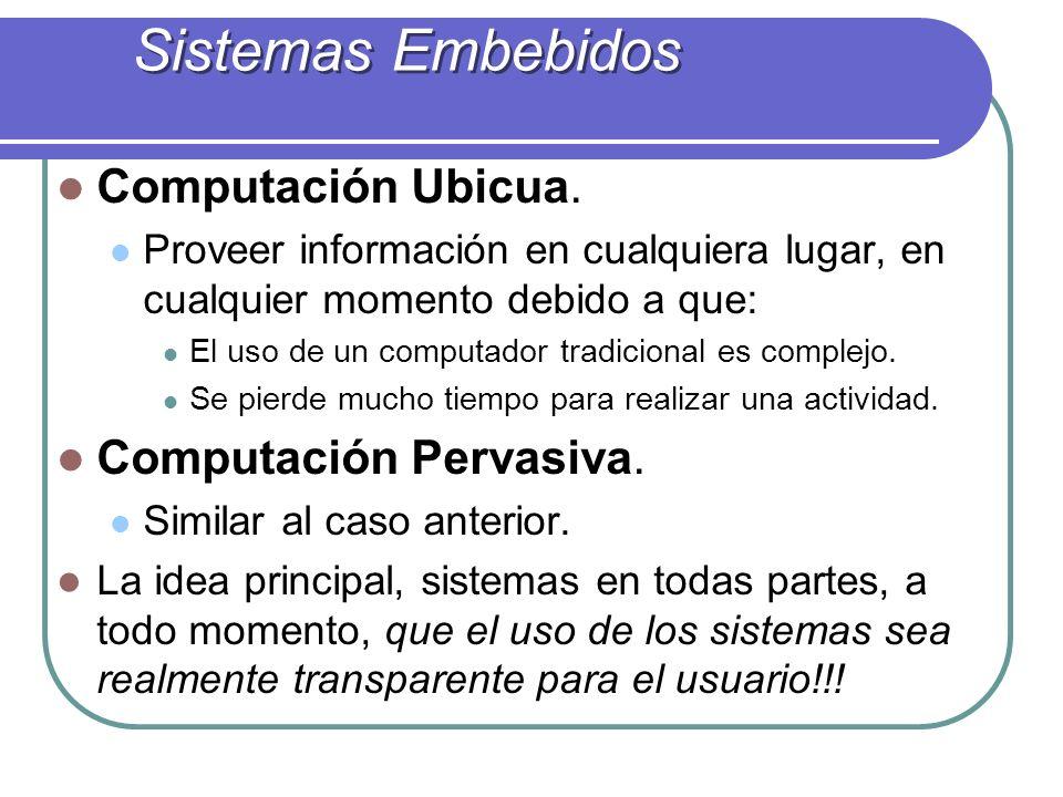 Sistemas Embebidos Computación Ubicua.