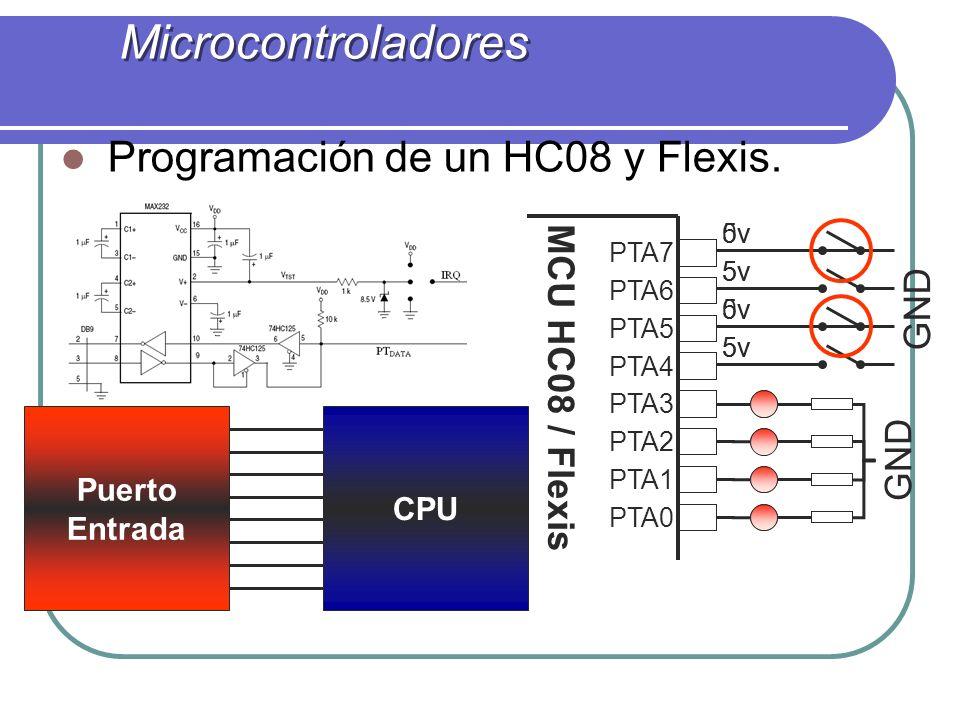Microcontroladores Programación de un HC08 y Flexis.
