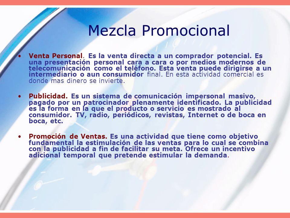 Venta Personal. Es la venta directa a un comprador potencial. Es una presentación personal cara a cara o por medios modernos de telecomunicación como