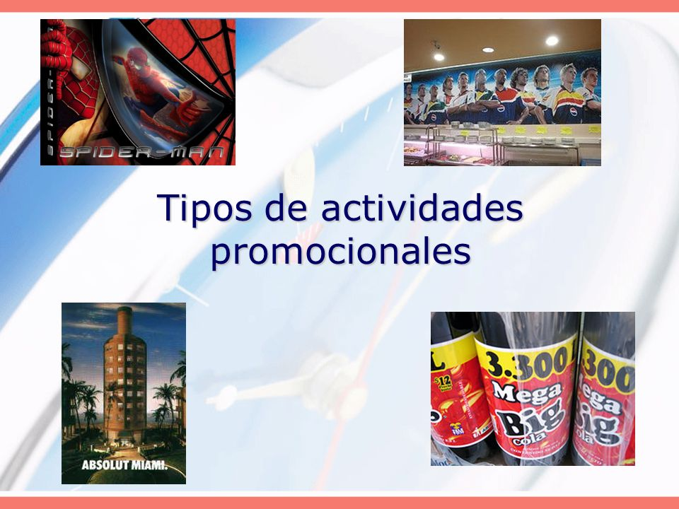 Tipos de actividades promocionales