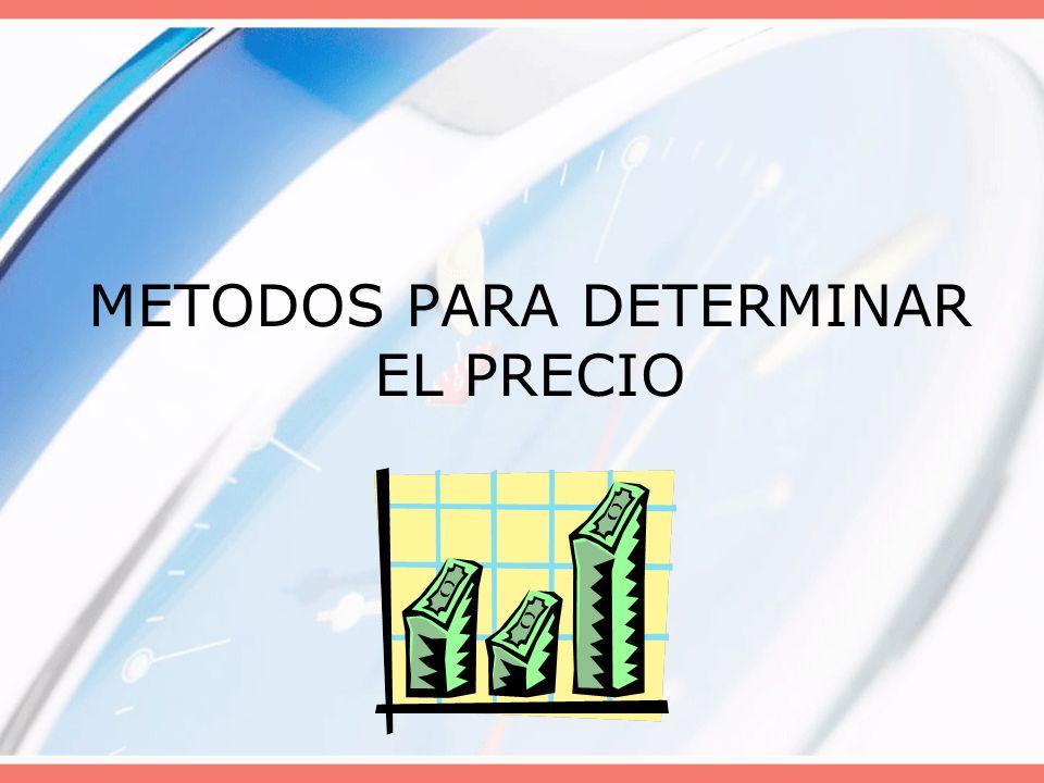 METODOS PARA DETERMINAR EL PRECIO