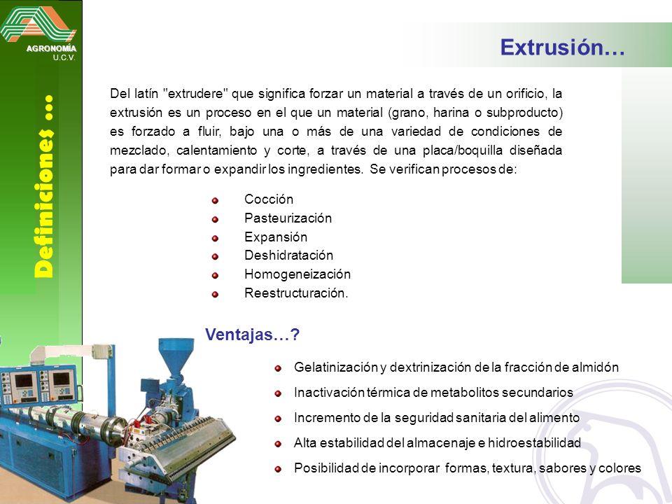 AGRONOMÍA U.C.V. Definiciones … Extrusión… Del latín