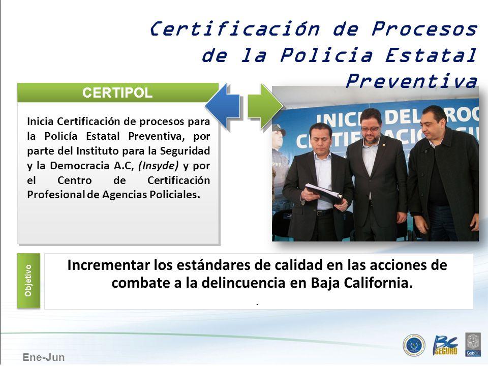 Ene-Jun Certificación de Procesos de la Policia Estatal Preventiva CERTIPOL Inicia Certificación de procesos para la Policía Estatal Preventiva, por p