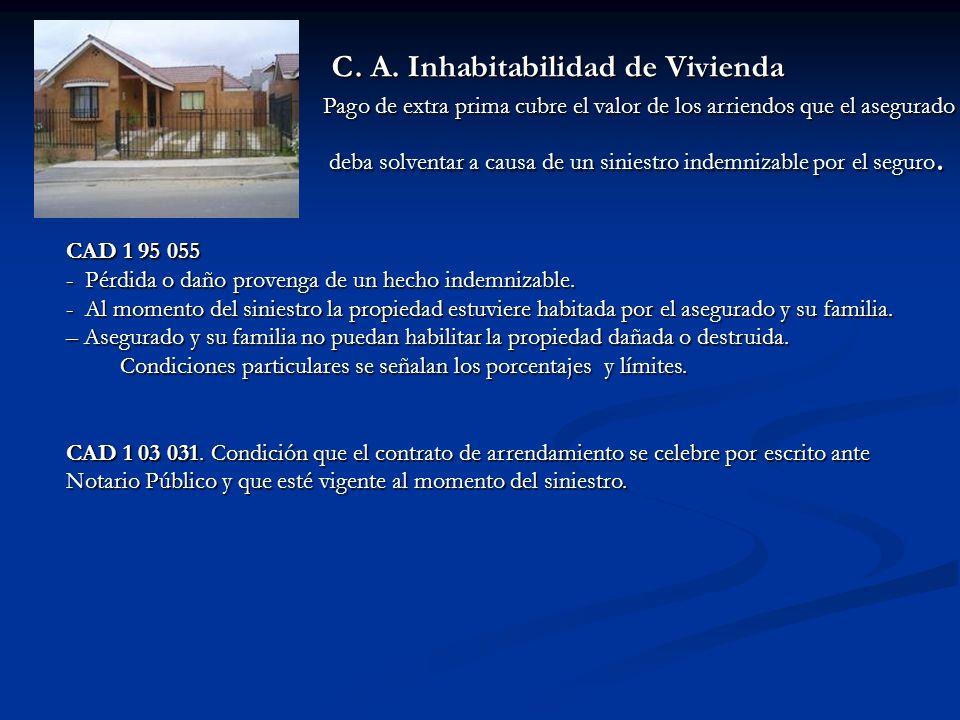 C. A. Inhabitabilidad de Vivienda C. A.