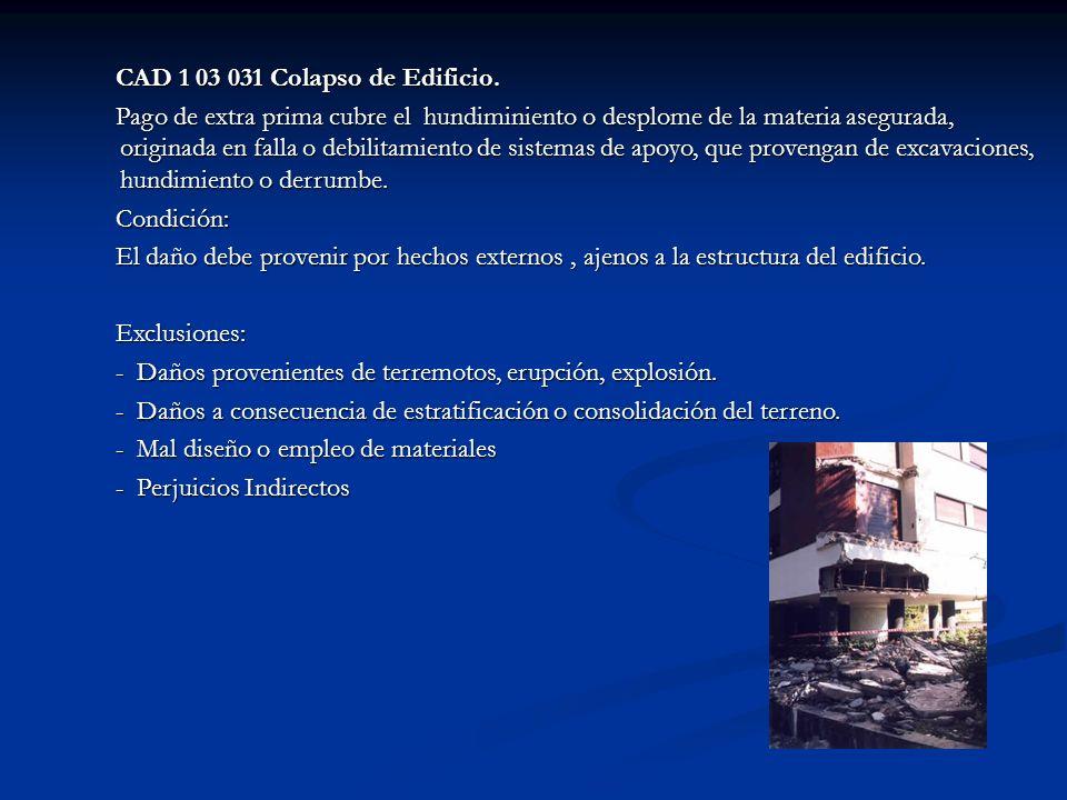 CAD 1 03 031 Colapso de Edificio. CAD 1 03 031 Colapso de Edificio.