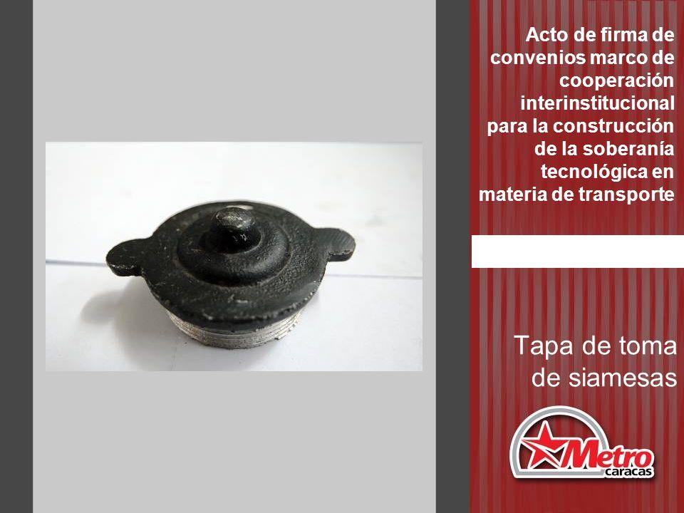 Tapa de toma de siamesas Acto de firma de convenios marco de cooperación interinstitucional para la construcción de la soberanía tecnológica en materi