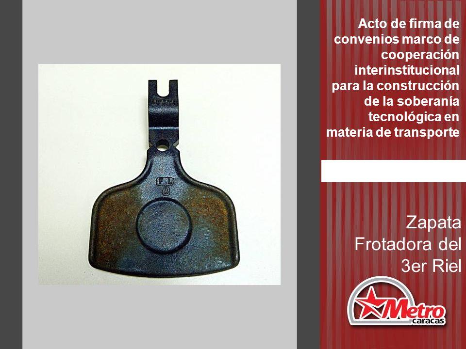 Zapata Frotadora del 3er Riel Acto de firma de convenios marco de cooperación interinstitucional para la construcción de la soberanía tecnológica en m