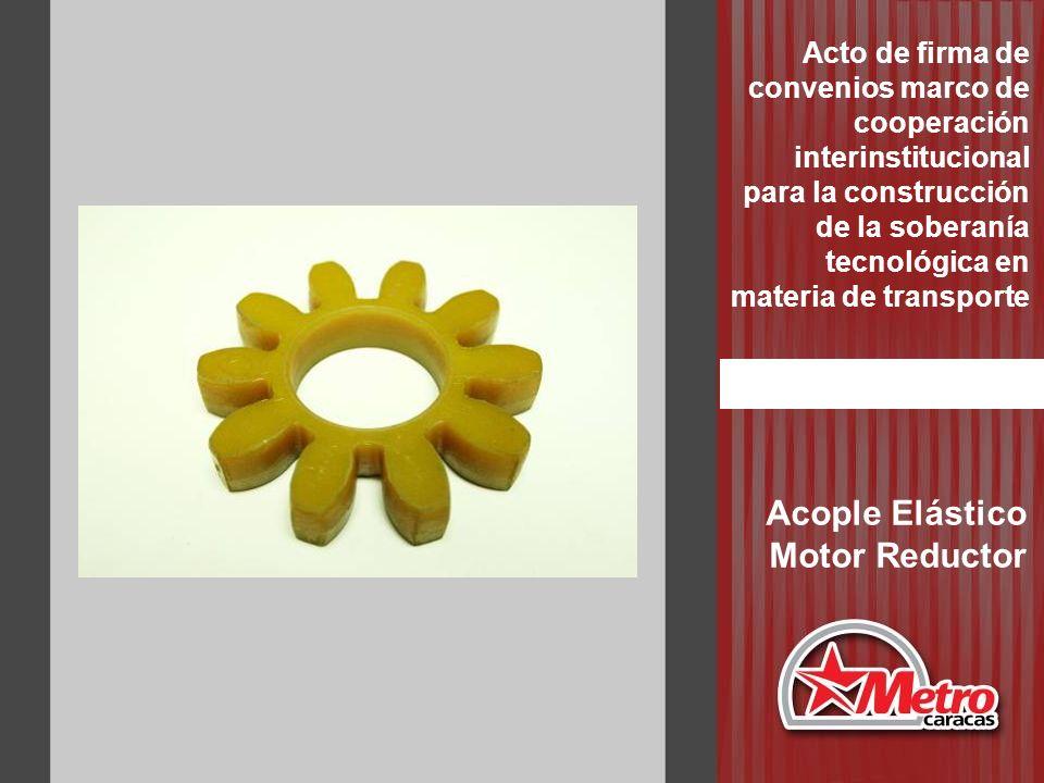 Acople Elástico Motor Reductor Acto de firma de convenios marco de cooperación interinstitucional para la construcción de la soberanía tecnológica en