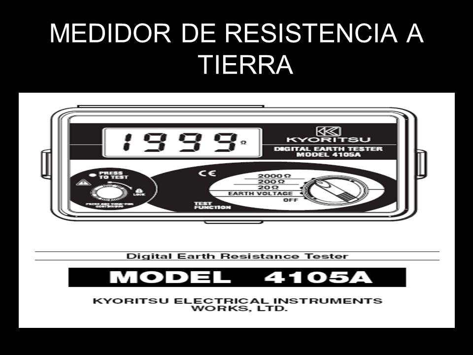 MEDIDOR DE RESISTENCIA A TIERRA