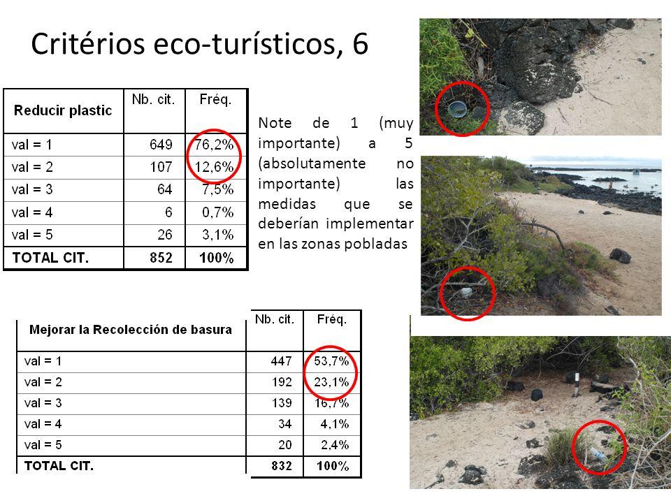 Critérios eco-turísticos, 6