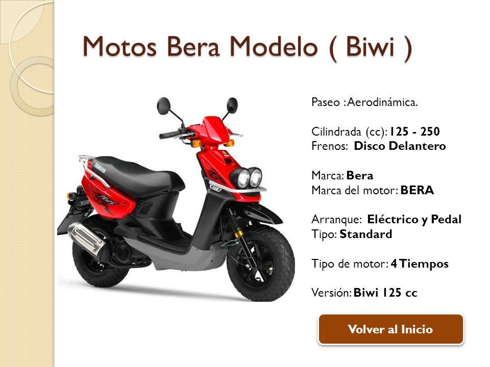 Motos Bera Modelo ( Biwi ) Paseo : Aerodinámica.