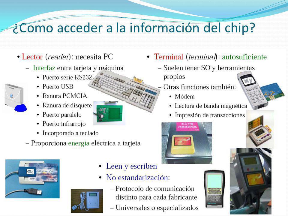 ¿Como acceder a la información del chip?