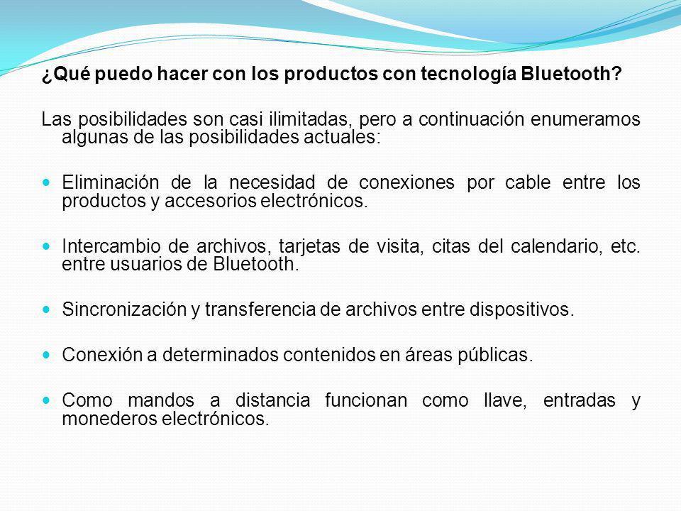 ¿Qué puedo hacer con los productos con tecnología Bluetooth? Las posibilidades son casi ilimitadas, pero a continuación enumeramos algunas de las posi