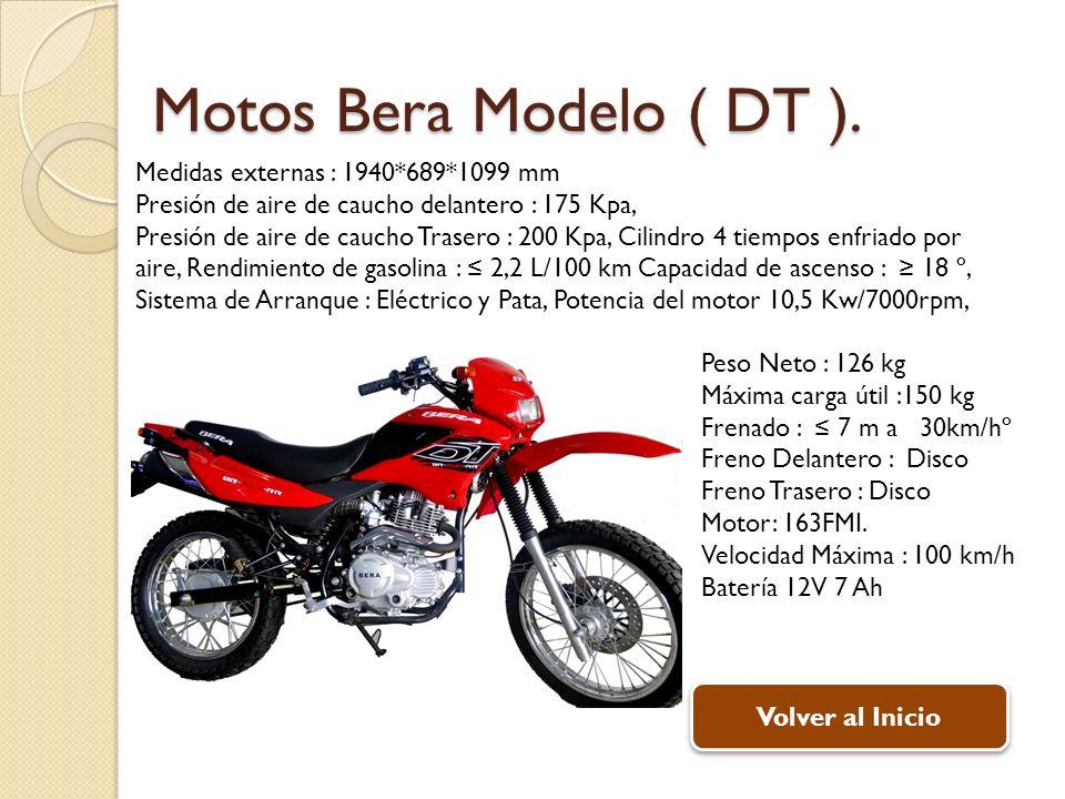 Peso Neto : 126 kg Máxima carga útil :150 kg Frenado : 7 m a 30km/hº Freno Delantero : Disco Freno Trasero : Disco Motor: 163FMI.