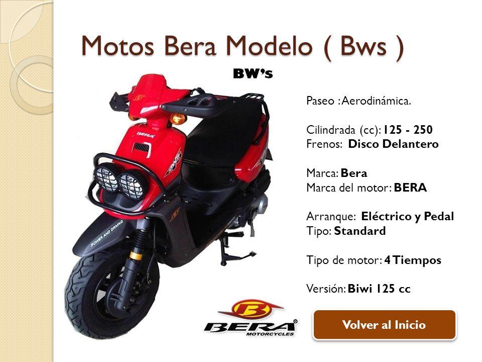 Motos Bera Modelo ( Bws ) Paseo : Aerodinámica.