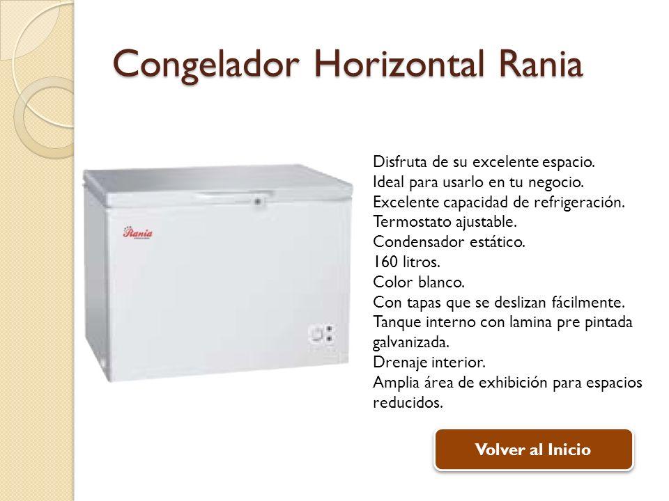 Congelador Horizontal Rania Disfruta de su excelente espacio. Ideal para usarlo en tu negocio. Excelente capacidad de refrigeración. Termostato ajusta