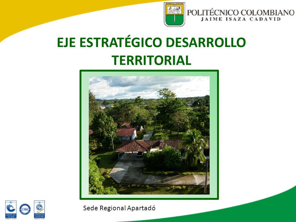 EJE ESTRATÉGICO DESARROLLO TERRITORIAL Sede Regional Apartadó