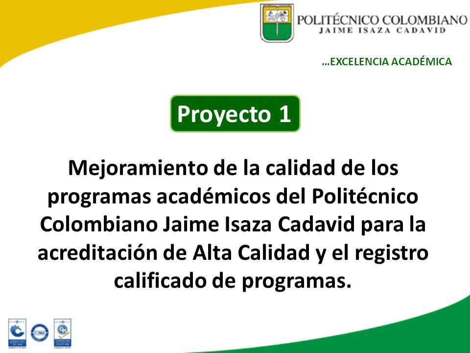 Mejoramiento de la calidad de los programas académicos del Politécnico Colombiano Jaime Isaza Cadavid para la acreditación de Alta Calidad y el regist