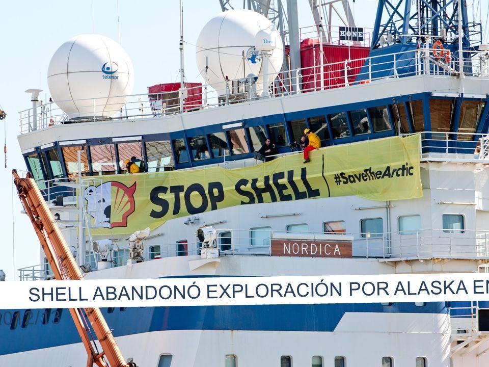 SHELL ABANDONÓ EXPLORACIÓN POR ALASKA EN 2012/13