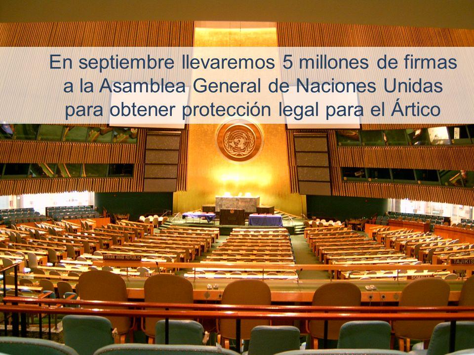 En septiembre llevaremos 5 millones de firmas a la Asamblea General de Naciones Unidas para obtener protección legal para el Ártico
