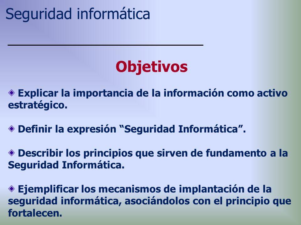 Explicar la importancia de la información como activo estratégico.