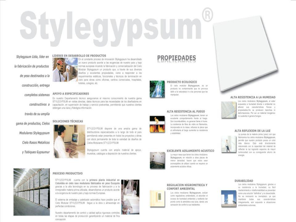 COMO ESPECIFICAR STYLEGYPSUM EN SUS PROYECTOS Termoacustica Perlita Foil de aluminio (parte posterior)