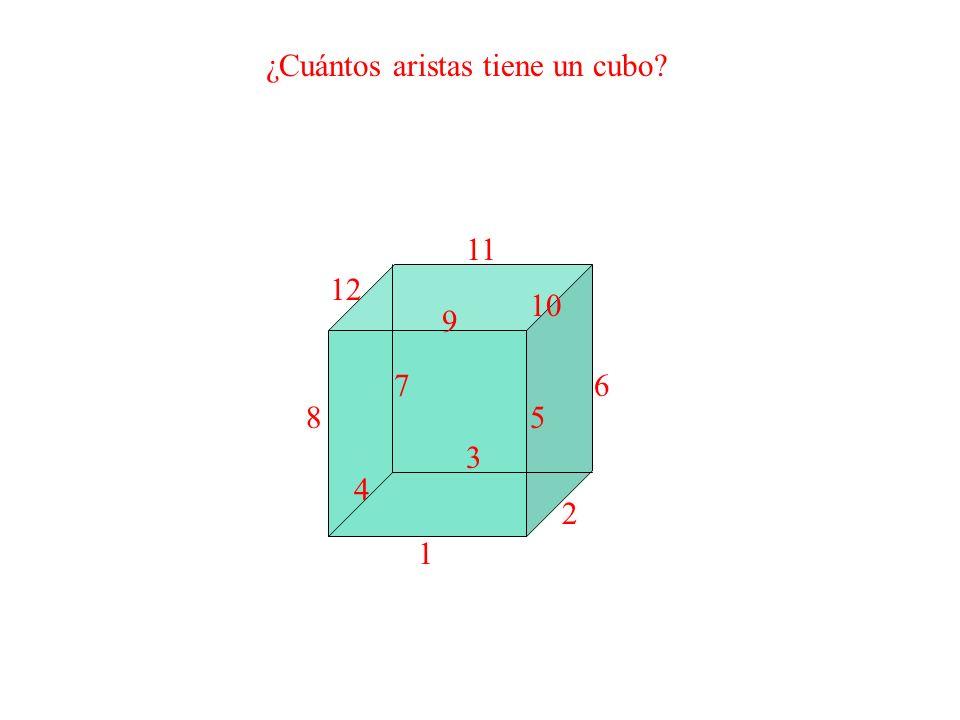 ¿Cuántos aristas tiene un cubo? 1 2 3 4 5 67 8 9 10 11 12