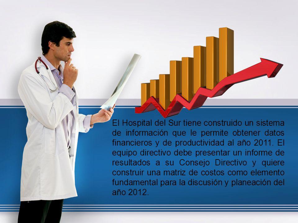Quiere dar respuesta a las siguientes preguntas: - ¿Cuál es el costo total anual del hospital.