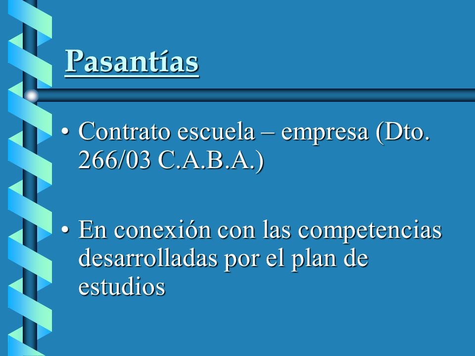 Pasantías Contrato escuela – empresa (Dto. 266/03 C.A.B.A.)Contrato escuela – empresa (Dto.