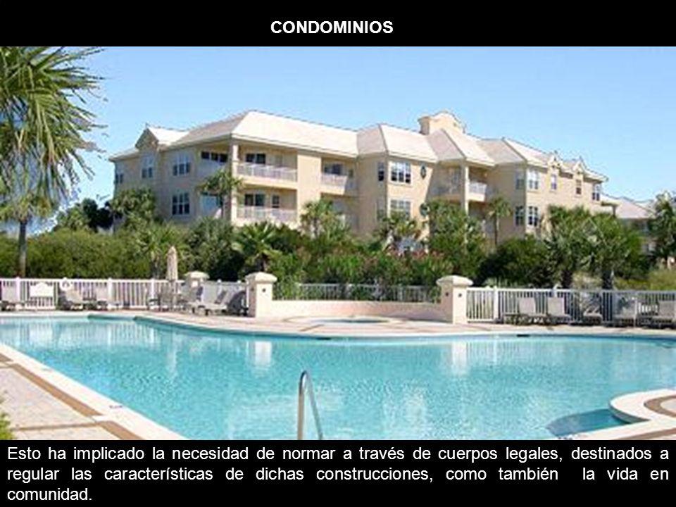 TIPOS DE CONDOMINIOS Para efectos del régimen de copropiedad inmobiliaria se entenderá como condominios las construcciones o terrenos acogidos al régimen que establece la ley.