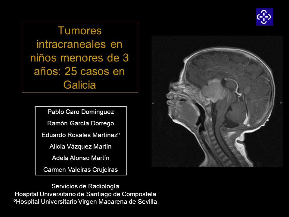 Tumores intracraneales en niños menores de 3 años: 25 casos en Galicia Servicios de Radiología Hospital Universitario de Santiago de Compostela ºHospi