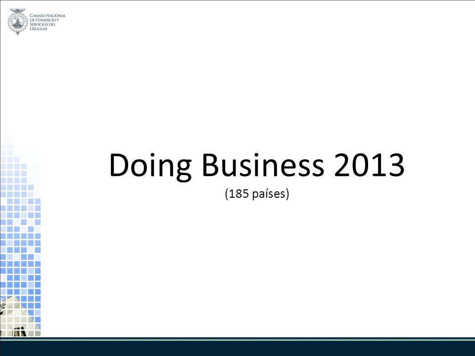Doing Business 2013 (185 países)