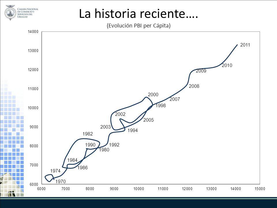 La historia reciente…. (Evolución PBI per Cápita)