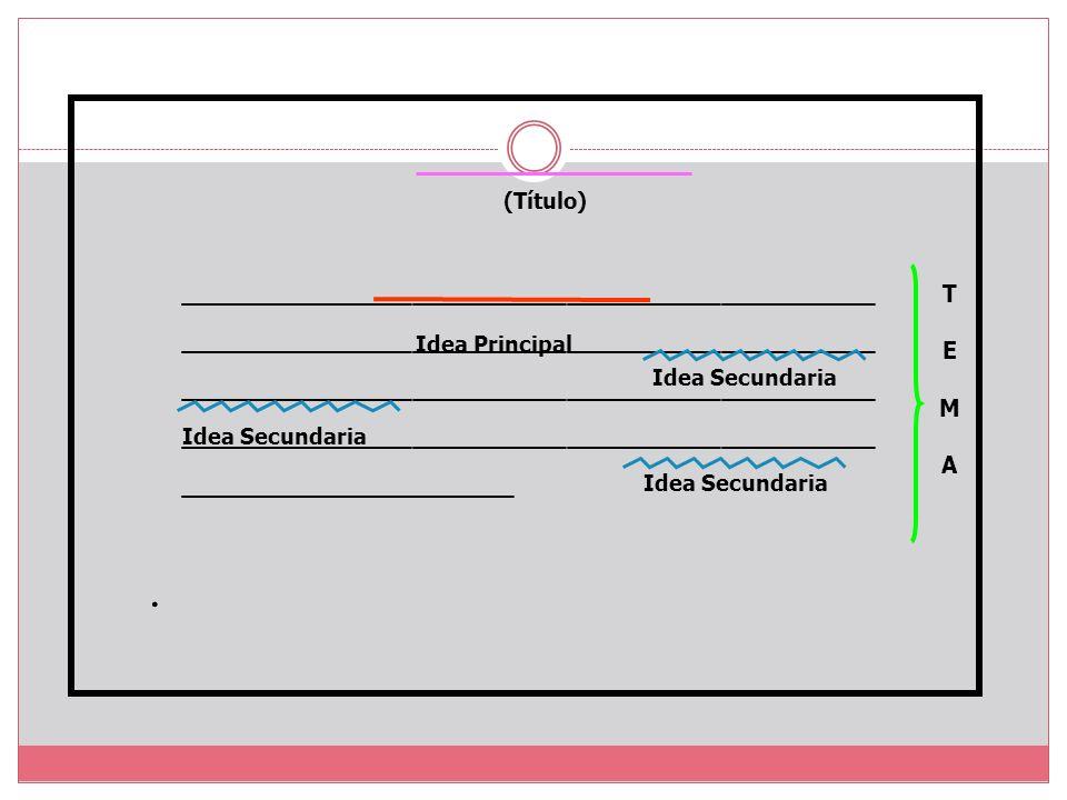 IDEAS SECUNDARIAS.- Son informaciones complementarias.